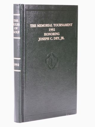"""1992"" Memorial, The Rules of Golf. R, A, U S. G. A., Joseph C. Dey"