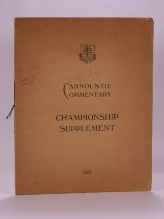 Carnoustie Commentary, Championship Supplement. Carnoustie