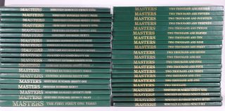 Complete run the Masters, the First Forty One Years, plus 1978 thru 2016. Augusta National Golf Club