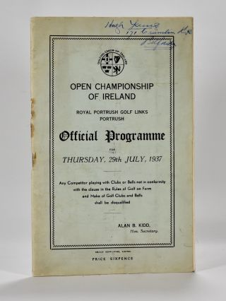 Open Championship of Ireland. Golfing Union of Ireland