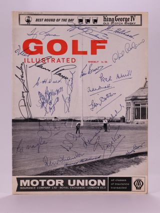 "Golf Illustrated 1st July 1965. Golf illustrated magazine ""signed"""