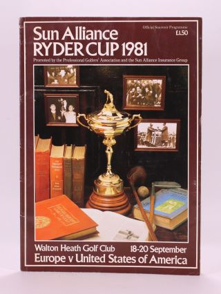 Ryder Cup 1981 Official Programme. P G. A