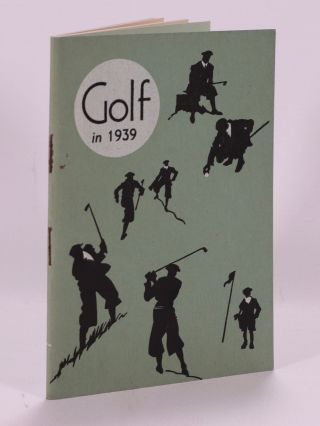 Golf in 1939. Manchester Guardian