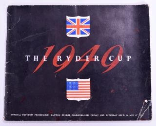Ryder Cup 1949 Official Programme. P G. A