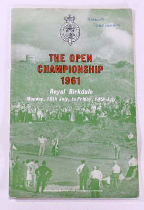 The Open Championship 1961. Official Programme. The Royal, Ancient Golf Club of St. Andrews