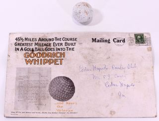 Extra Large postcard advert for The Goodrich Whippet Golf Balls. postcard