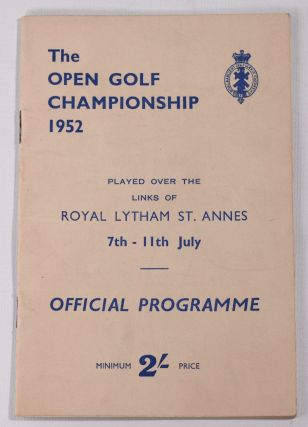 The Open Championship 1952. Official Programme. The Royal, Ancient Golf Club of St. Andrews