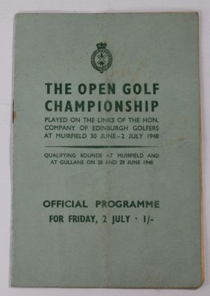 The Open Championship 1948. Official Programme. The Royal, Ancient Golf Club of St. Andrews