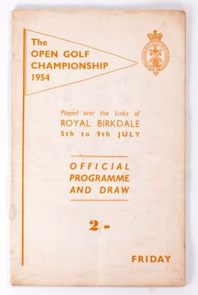 The Open Championship 1954 Official Programme. The Royal, Ancient Golf Club of St. Andrews