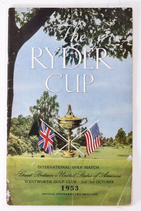Ryder Cup 1953 Official Programme. P G. A