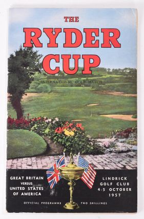 Ryder Cup 1957 Official Programme. P G. A