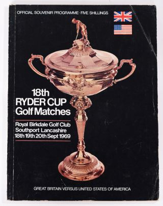 Ryder Cup Golf Matches, 1969. P G. A