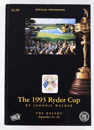 Ryder Cup 1993 Official Programme. P G. A