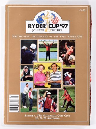 Ryder Cup 1997 Official Programme. P G. A