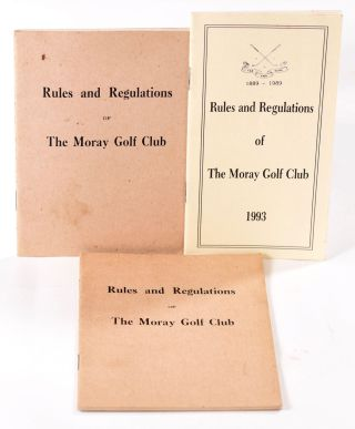 Rules of the Moray Golf Club 2x 1976 & 1993. The Moray Golf Club