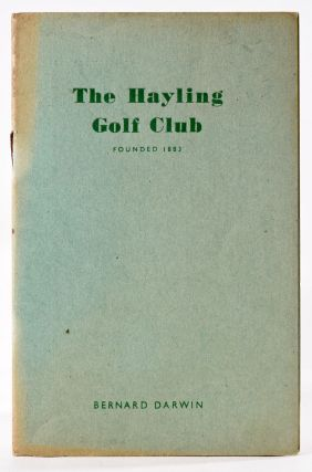 Hayling Golf Club. Bernard Darwin, Handbook