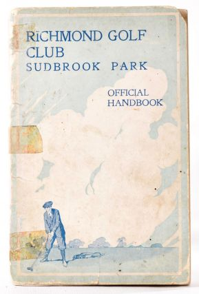 "Richmond Golf Club. Official Golf Handbook; Including ""The Four Eras of Golf"". The fourth era..."