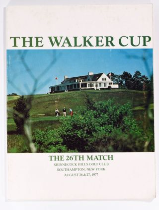 Walker Cup 1977 Official Golf Programme. U S. G. A