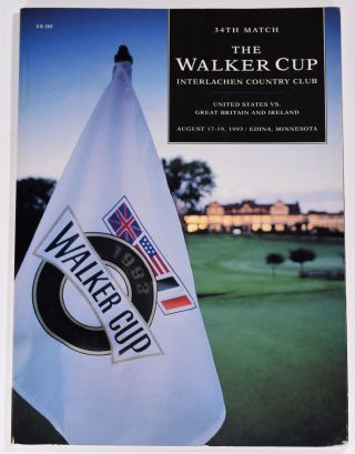 Walker Cup 1993 Official Golf Programme. R, A. / U. S. G. A