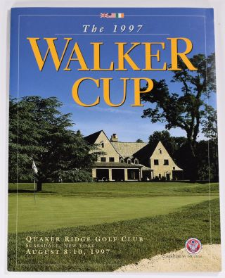 Walker Cup 1997 Official Golf Programme. R, A. / U. S. G. A