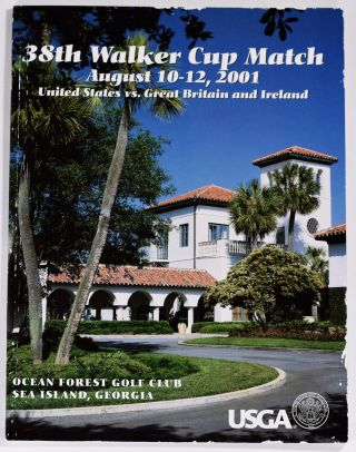 Walker Cup 2001 Official Golf Programme. R, A. / U. S. G. A