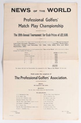 Professional Match Play Championship. News of the World
