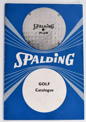 Golf Catalogue. Spalding