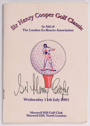 "Sir Henry Cooper Golf Classic ""Signed"" Muswell Hill Golf Club"