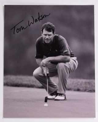 autographed photograph. Tom Watson