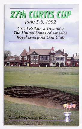 Curtis Cup Royal Liverpool Golf Club 1992. Ladies Golf Union