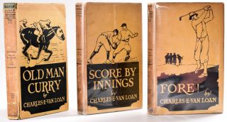 Fore! & Score by Innings & Old Man Curry (Set of 3 titles, all in dust jackets!). Charles E. Van...