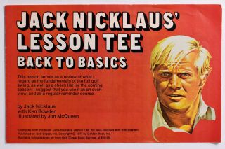 Jack Nicklaus Lesson Tee, Back to Basics. Jack Nicklaus