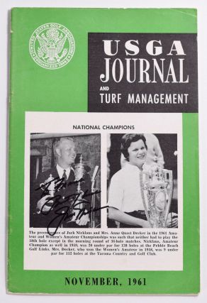 USGA Journal and Turf Managment November 1961 Signed Jack Nicklaus! United States Golf Association