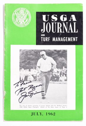 USGA Journal and Turf Managment July 1962 Signed Jack Nicklaus! United States Golf Association