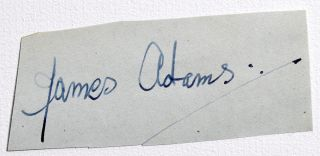 Cut Signature. James Adams