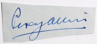 Cut Signature. Percy Allis