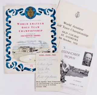 Eisenhower Trophy, SIGNED by Bobby Jones + many more. International Golf Federation