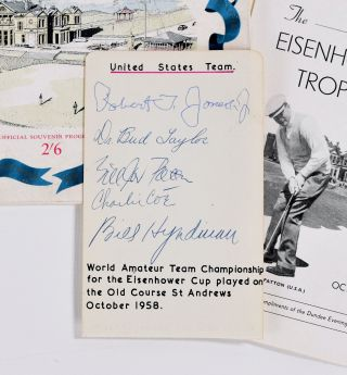 Eisenhower Trophy, SIGNED by Bobby Jones + many more